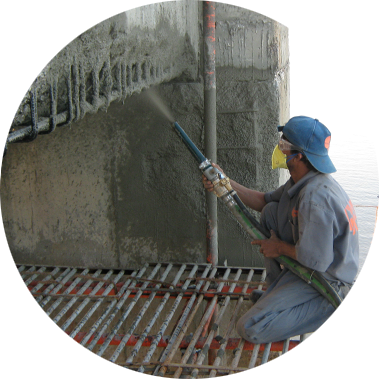 chowgule constructions chemicals concrete repair and rehabilitation MortaRep SuperStrong spray applied