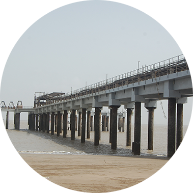 chowgule constructions chemicals concrete repair and rehabilitation final finish of the repaired jetty